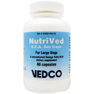 NutriVed O.F.A. for Large Dogs, 60 Gel Capsules