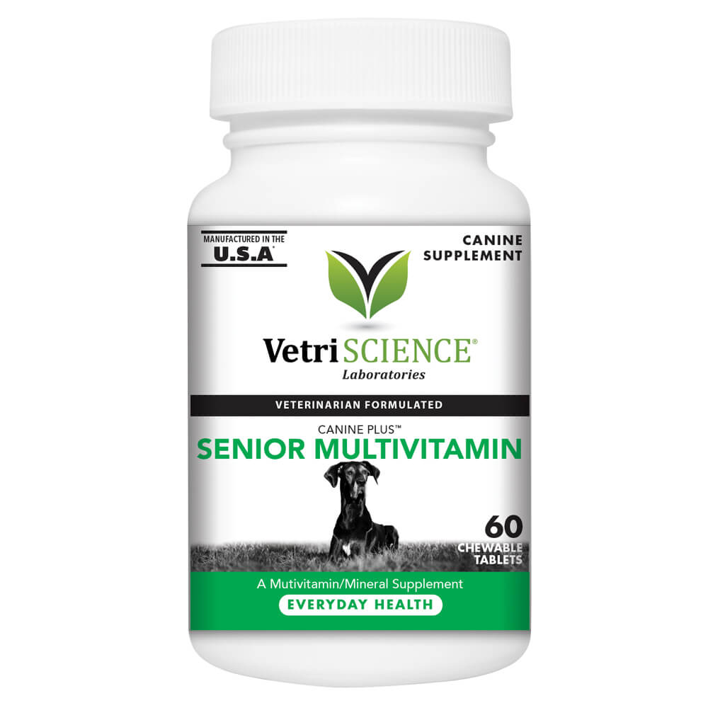 Canine Plus Senior, Multivitamin Formula for Older Dogs, 60 Chewable Tablets