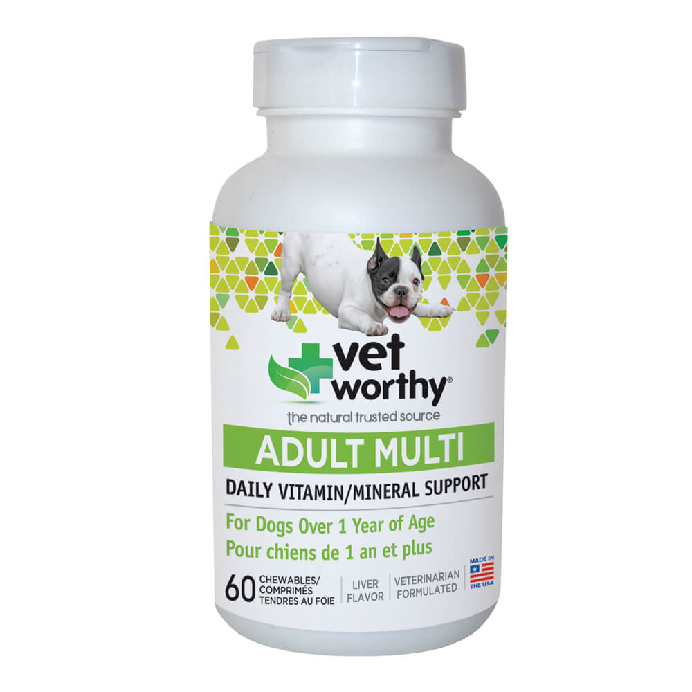 Vet Worthy, Adult Multi Daily Vitamin, for Dogs, 60 ct