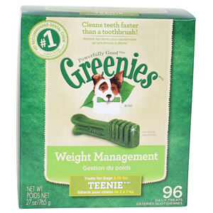 Greenies Weight Management Treats for Dogs 5-15 lbs, Teenie