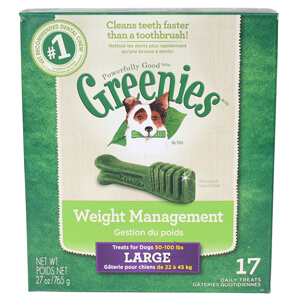 Greenies Weight Management Treats for Dogs 50-100 lbs, Large