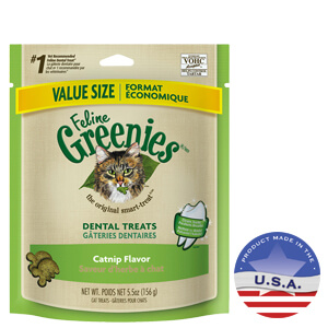 Feline Greenies Dental Treat Catnip Flavor  10/5.5oz