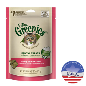 Feline Greenies Dental Treats, Salmon, 2.5 Oz
