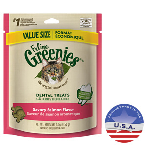 Feline Greenies Dental Treats, Salmon, 5.5 Oz