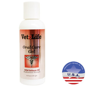 VetzLife Oral Care Gel with Salmon Oil 4.5 Oz
