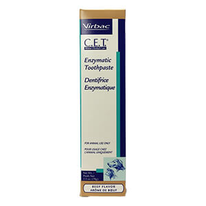 C.E.T. Enzymatic Toothpaste for Dogs and Cats, Beef, 2.5 oz