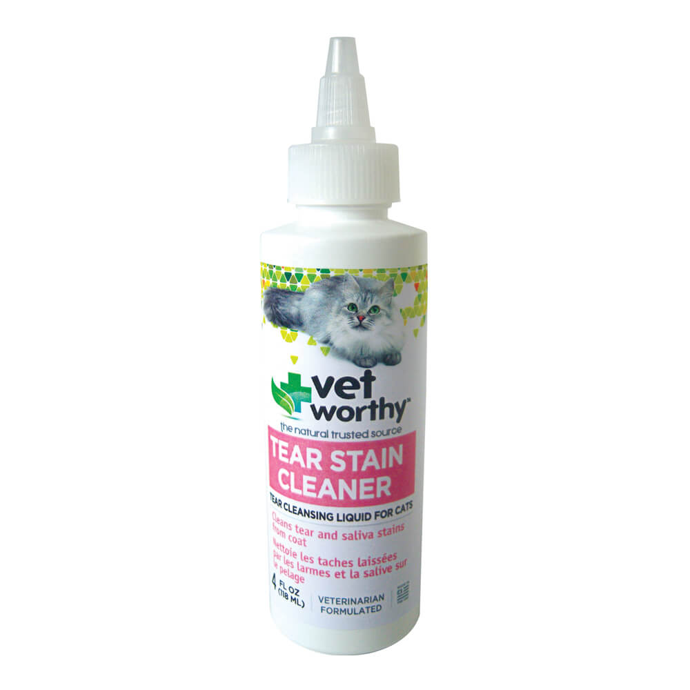 Vet Worthy, Tear Stain Cleaner, for Cats, 4 fl oz