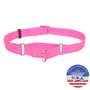 No Slip! Martingale Adjustable Collar for Dogs, 3/4