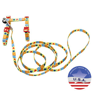 Coastal Fashion Harness & Lead Combo for Cats