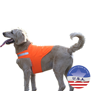 No Fly Zone Safety Vest Blaze Orange Large