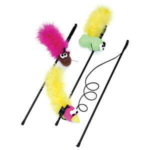 Feather Boa Toy with Wand and Catnip