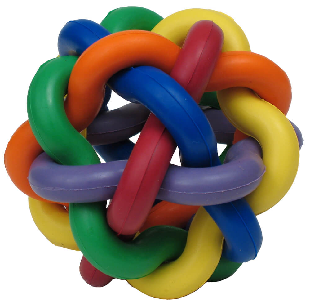 Rubber Ball Dog Toy : Multipet nobbly wobbly rubber ball dog toy quot