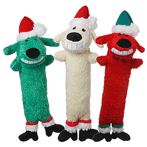 Multipet Loofa Santa, Dog Toy, 12