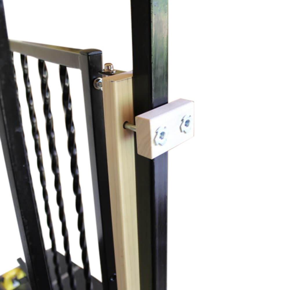 Wrought iron kit for safety gate mounting regular