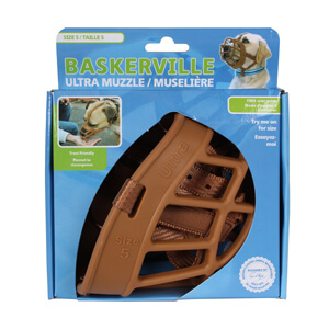 Baskerville Ultra Muzzle, Tan, Size 5