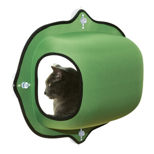 EZ Mount Window Pod Kitty Sill Green
