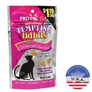 Tempting Tidbits for Cats, Chicken & Liver, 3.0 oz