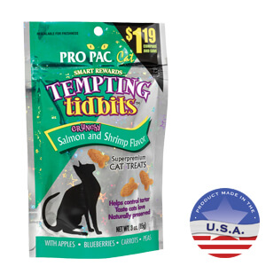 Tempting Tidbits for Cats, Salmon & Shrimp, 3.0 oz