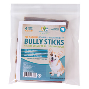 beef bully stick 4 in odorless. Black Bedroom Furniture Sets. Home Design Ideas