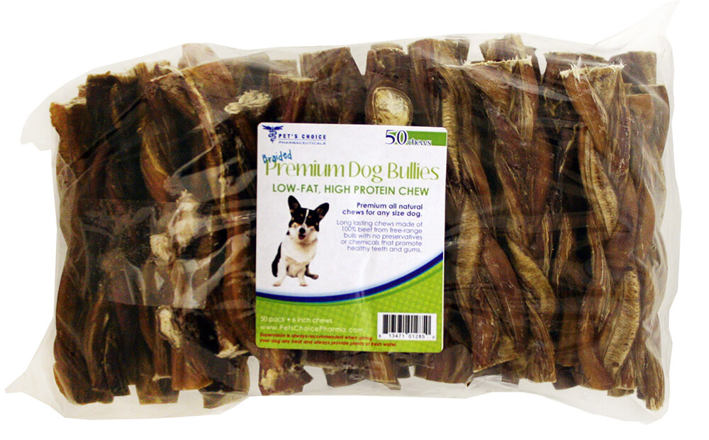 braided bully sticks for dogs 6 7 premium all natural pizzle chews 50 pk. Black Bedroom Furniture Sets. Home Design Ideas