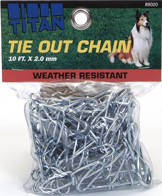 89020 Twisted Tie Out Chain 2.0mm, 10'