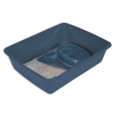 Cat Pan Starter Kit Usa - Large - Blue