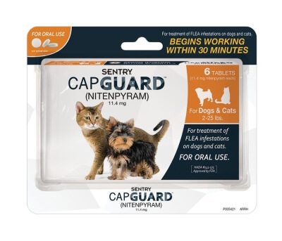 Sentry Capguard Flea Tablets - Cat 2-25lb- 6Ct