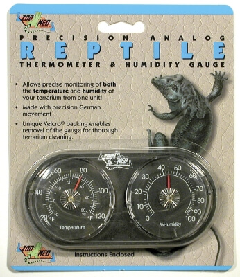 Reptile Dual Thermometer/Humidity Gauge