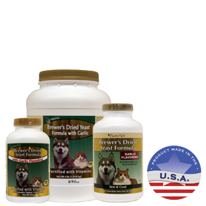 NaturVet Brewer's Dried Yeast with Garlic for Dogs and Cats