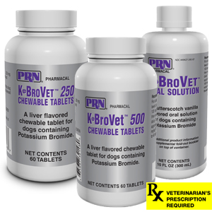 K-BroVet Potassium Bromide Liver Flavored Chewable Tabs for Dogs Rx