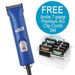 Andis UltraEdge AGC Super 2-Speed - Blue w/ FREE Nail Grinder
