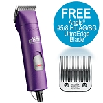 Andis AGC Spr 2 Speed Clipper Purple w/ FREE 5/8HT Blade