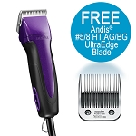 Andis Excel 5 Spd-Clipper Purple w/ FREE 5/8HT Blade
