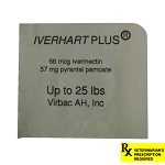 Rx, Iverhart Plus, 0-25 lbs,  1 Count