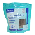 C.E.T. VeggieDent Tartar Control Chews for Dogs, Regular, 30 Chews