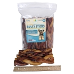 Braided Bully Sticks for Dogs, 6-7