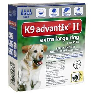 K Advantix Ii Extra Large Dog