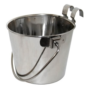 Flat-Sided Stainless Steel Pail with Hook