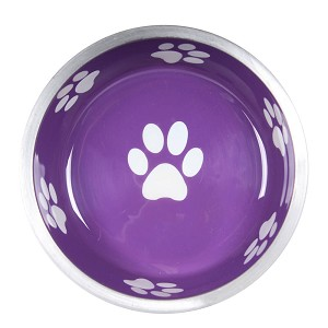 Super Max Bowl, X-Small, Paws, Violet