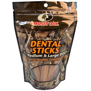 Mossy Oak Dental Sticks for Medium and Large Dogs, Approx 13 Dental Sticks