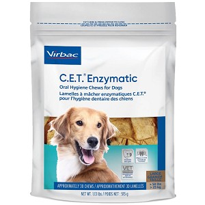 C.E.T. Enzymatic Oral Hygeine Chews for Dogs, 30 Extra Large Chews