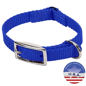 "Cat Expandable Nylon Safety Collar for Cats, 12"", Blue"