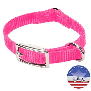 "Cat Expandable Nylon Safety Collar for Cats, 12"", Pink"