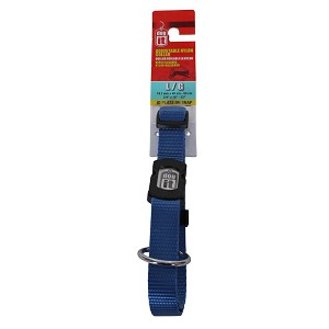 Dogit Adjustable Nylon Collar with Snap, Single Ply, Blue