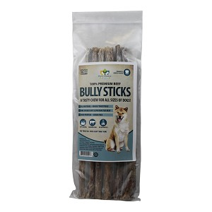 "12"" Dog Bully Sticks, Premium All Natural Dog Pizzle Chews, 6 Pack"