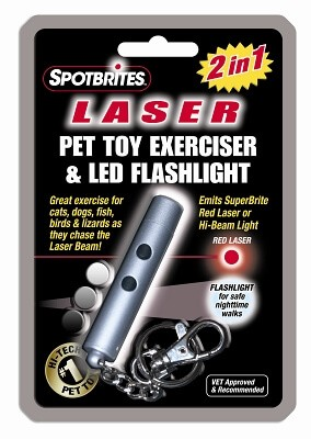 2 In 1 Laser Pet Toy Exerciser 6""
