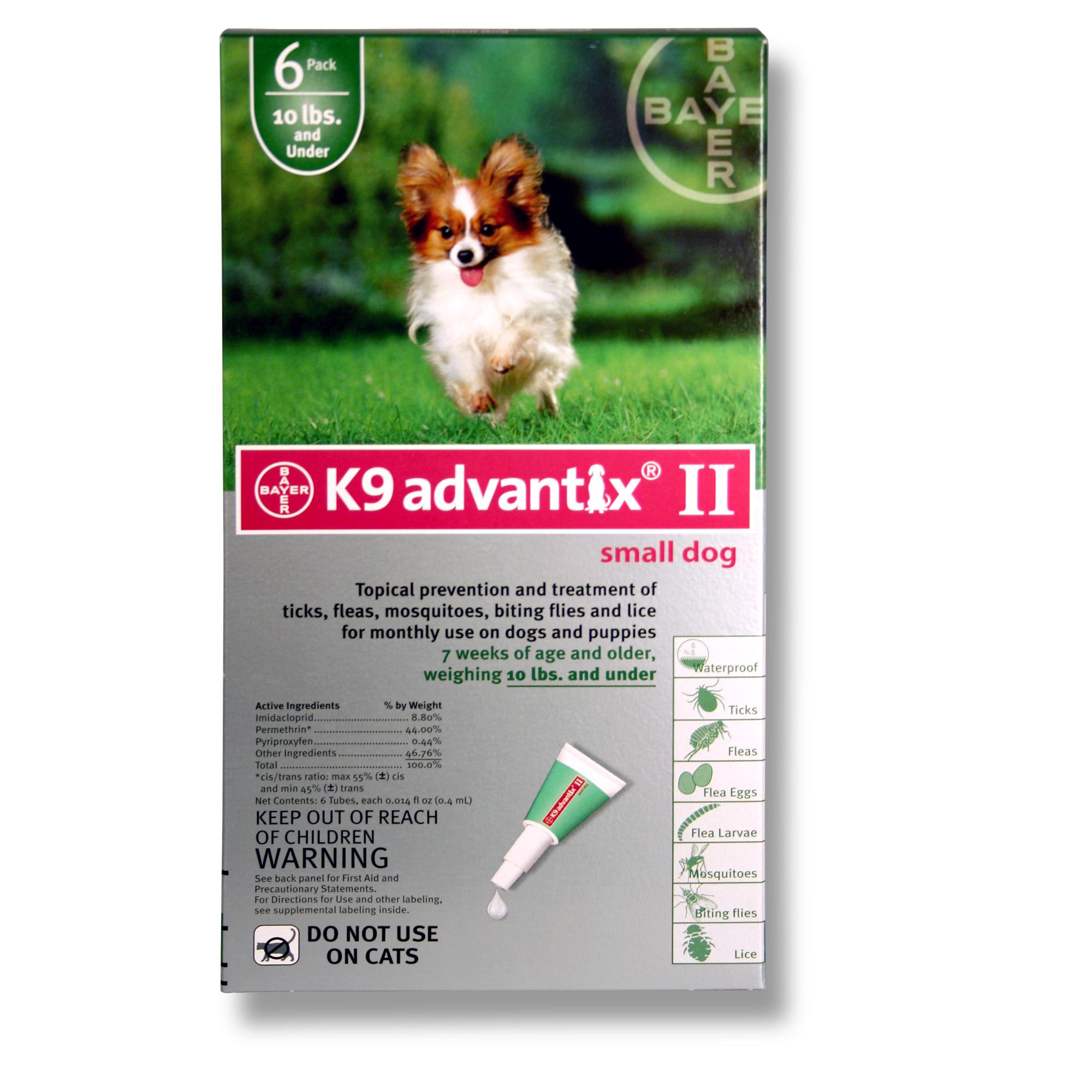 K9 Advantix Ii Small Dog 10 Lbs And Under 6 Pack Green