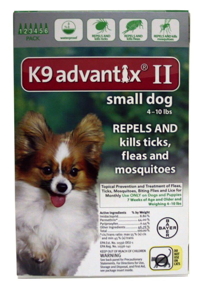 K9 Advantix Ii Small Dog 4 10 Lbs 6 Pk Green