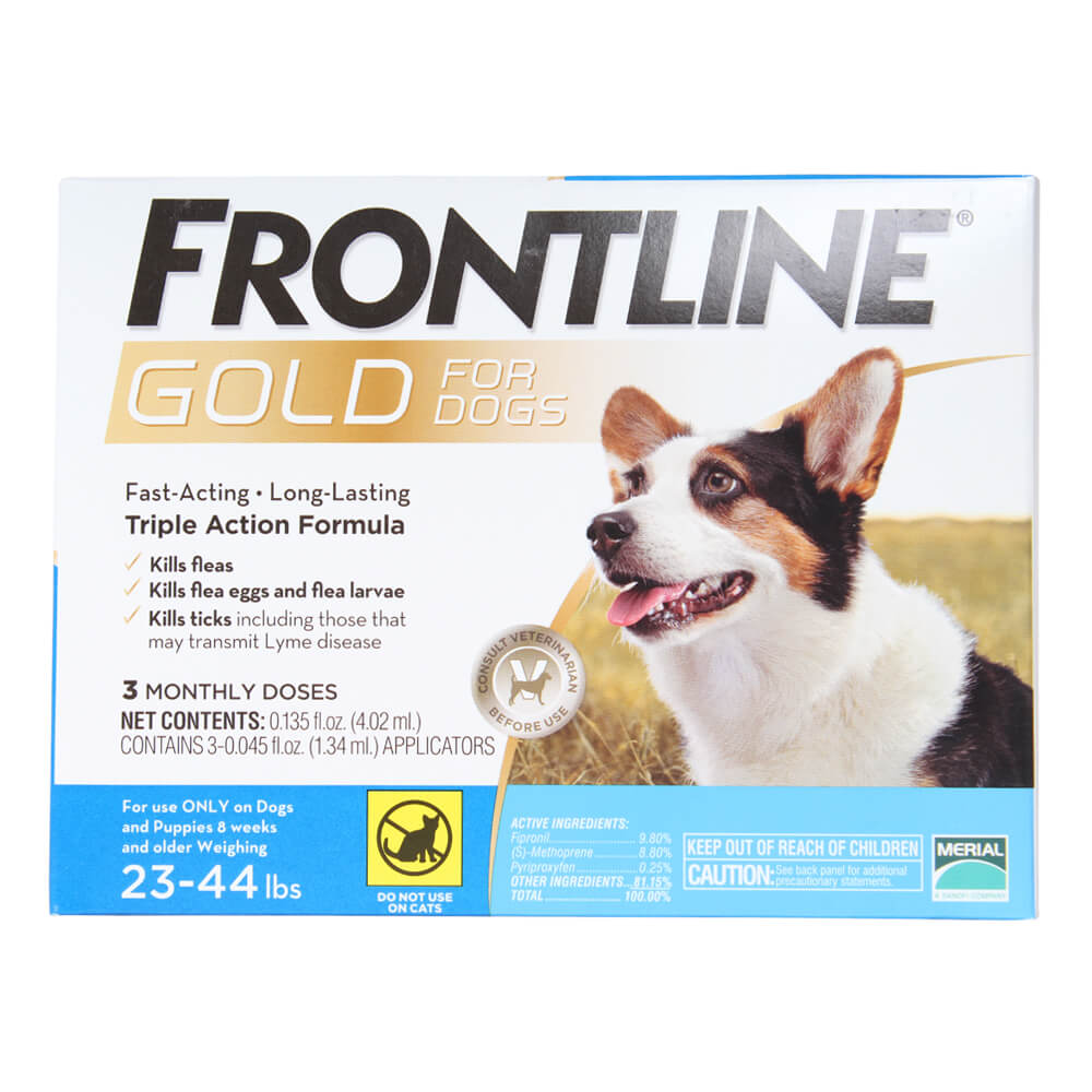 Frontline Gold for Dogs 23-44 lbs, Blue, 3 Month