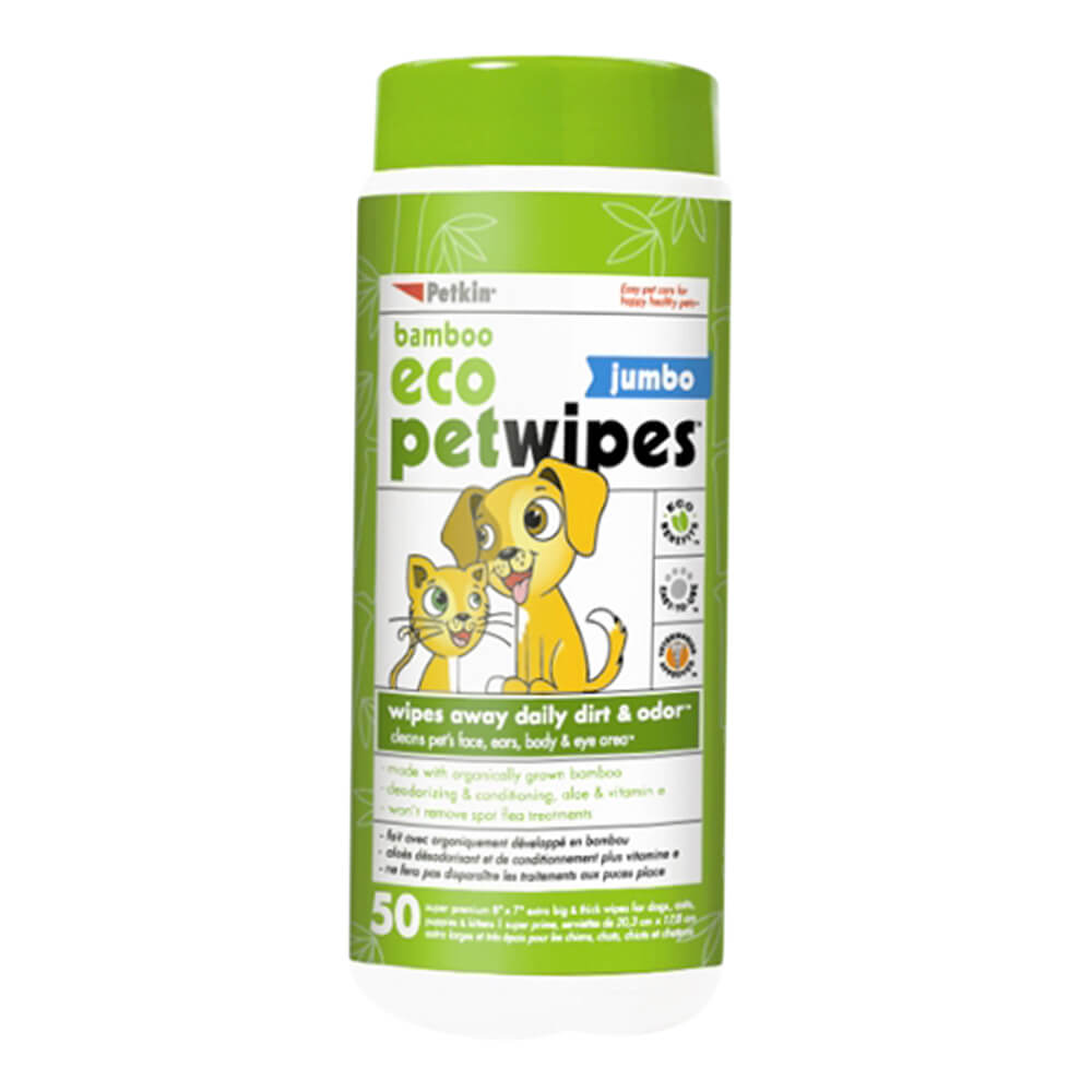 Bamboo Eco Petwipes 50 Count